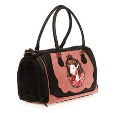 Sac pour chien noir et rose