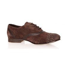 Derbies Cougar en cuir suédé marron