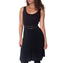Black Sleeveless Panelled Dress