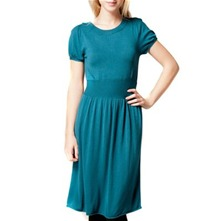 Teal Bow Back Knitted Dress
