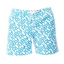 Short de bain logotyp turquoise
