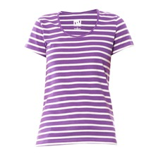T-shirt ray violet et blanc