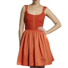 Orange Embroidered Sundress