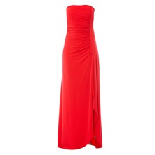 Robe longue bustier rouge