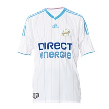 Maillot de football Olympique de Marseille blanc et bleu ciel