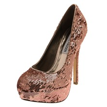 Gold Bevv-S Sequin Shoes 12.5cm Heel
