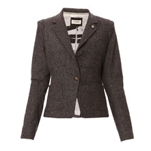Veste tweed gris chiné