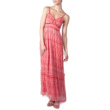 Red Chiffon Style Maxi Dress
