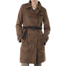 Chocolate Classic Belted Trench Coat