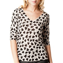 Black/White Heart Print Jumper