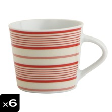Lot de 6 tasses 9cl Laconia rouge