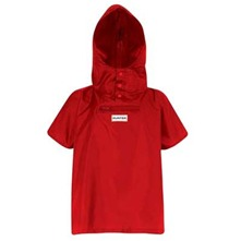 Children's Red Pocket Poncho