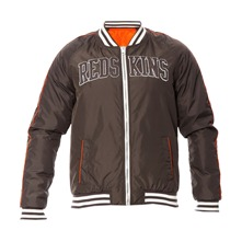 Blouson gris anthracite et orange
