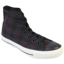 Women's Black/Purple Speciality High Top Trainers