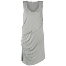 Grey Pamera Pleated Seam Dress