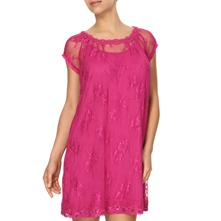 Fuchsia Sonia Lace Tunic Dress