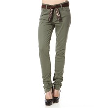 Khaki Stretch Cotton Trousers 32