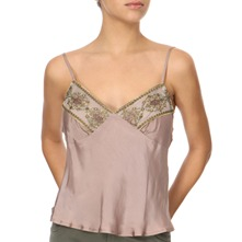 Mink Embroidered Camisole Top