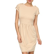 Beige Jersey Tea Dress