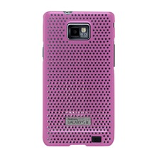 Coque microperfore rose Galaxy SII