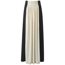 Black/Cream Brancusi Maxi Skirt