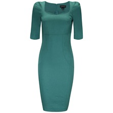 Green Cate Structured Dress