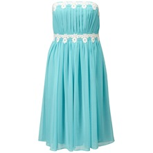 Sky Blue Catalina Bustier Dress