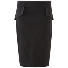 Black Dita Peplum Skirt
