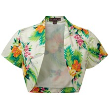 Cream/Multi Delphine Tropical Bolero