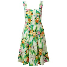 Cream/Multi Delphine Tropical Sun Dress