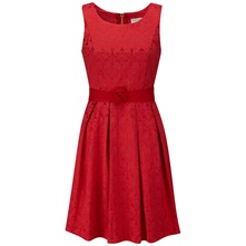 Red Kennedy Lace Prom Dress