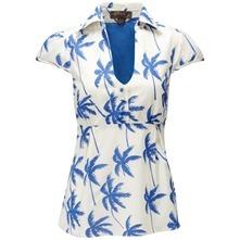 White/Blue La Jolla Sarah Blouse