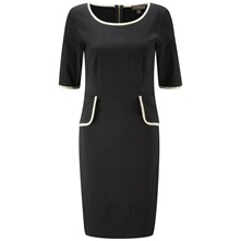 Black London Peplum Dress