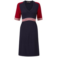 Navy Layton Empire Dress