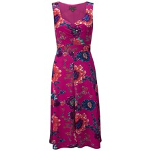 Fuchsia Menorca Mocoa Floral Dress