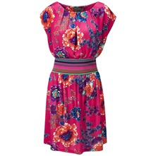 Fuchsia Menorca Floral Dress