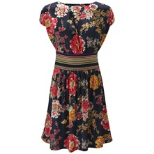 Navy Menorca Floral Dress