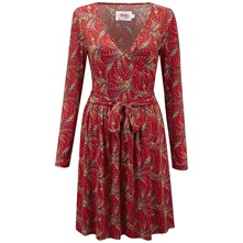 Red Renoir Wrap Dress