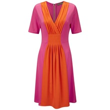 Pink/Orange Brancusi Empire Dress