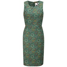 Green Olympia Shift Dress