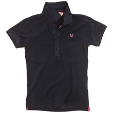 Navy Hartley Cotton Polo Shirt