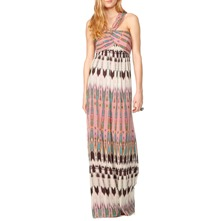 Pink/Multi Aztec Silk Maxi Dress