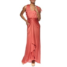 Orange Long Venus Silk Dress