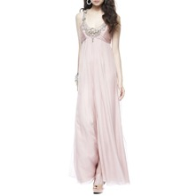 Pink Zora Embellished Silk Dress