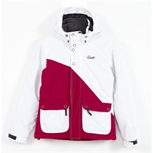 Veste de ski Tropic blanche et rose
