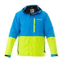 veste de ski  Powder bleu et jaune
