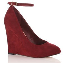 Red Isobel Wedge Shoes 12cm Heel