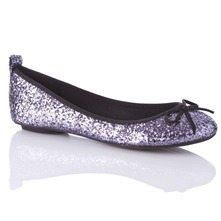 Women footwear: Silver Glitter Ben Pumps