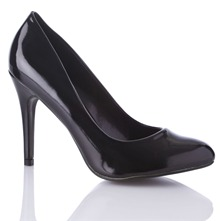 Black Connie Court Shoes 11cm Heel