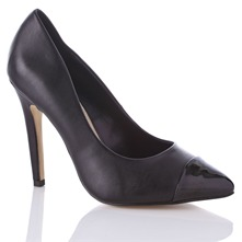 Black Janet Leather Shoes 11.5cm Heel